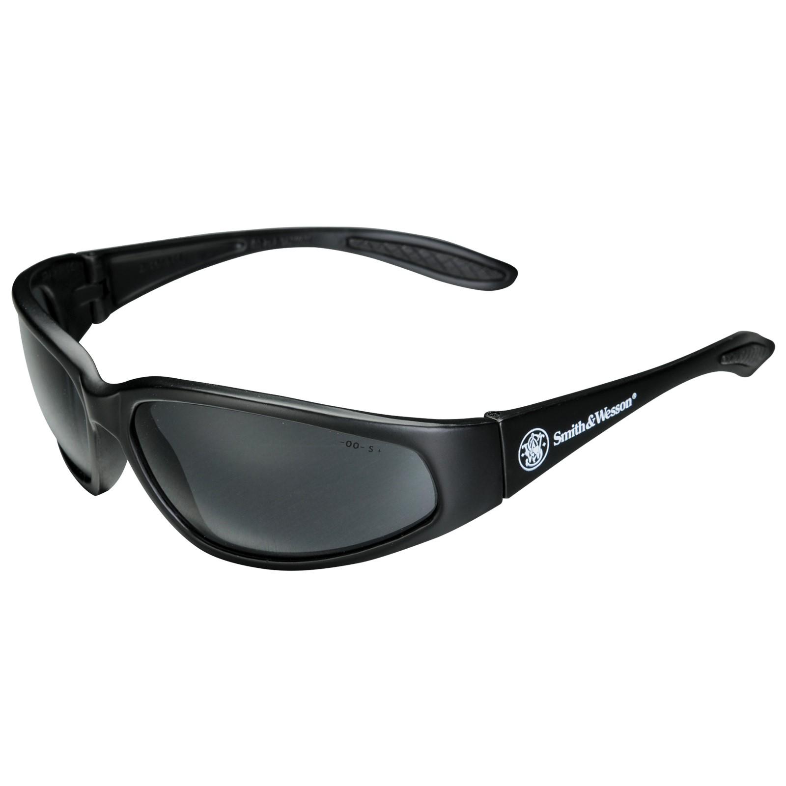 Smith & Wesson 38 Special Smoke Gray Lens & Black Frame Safe