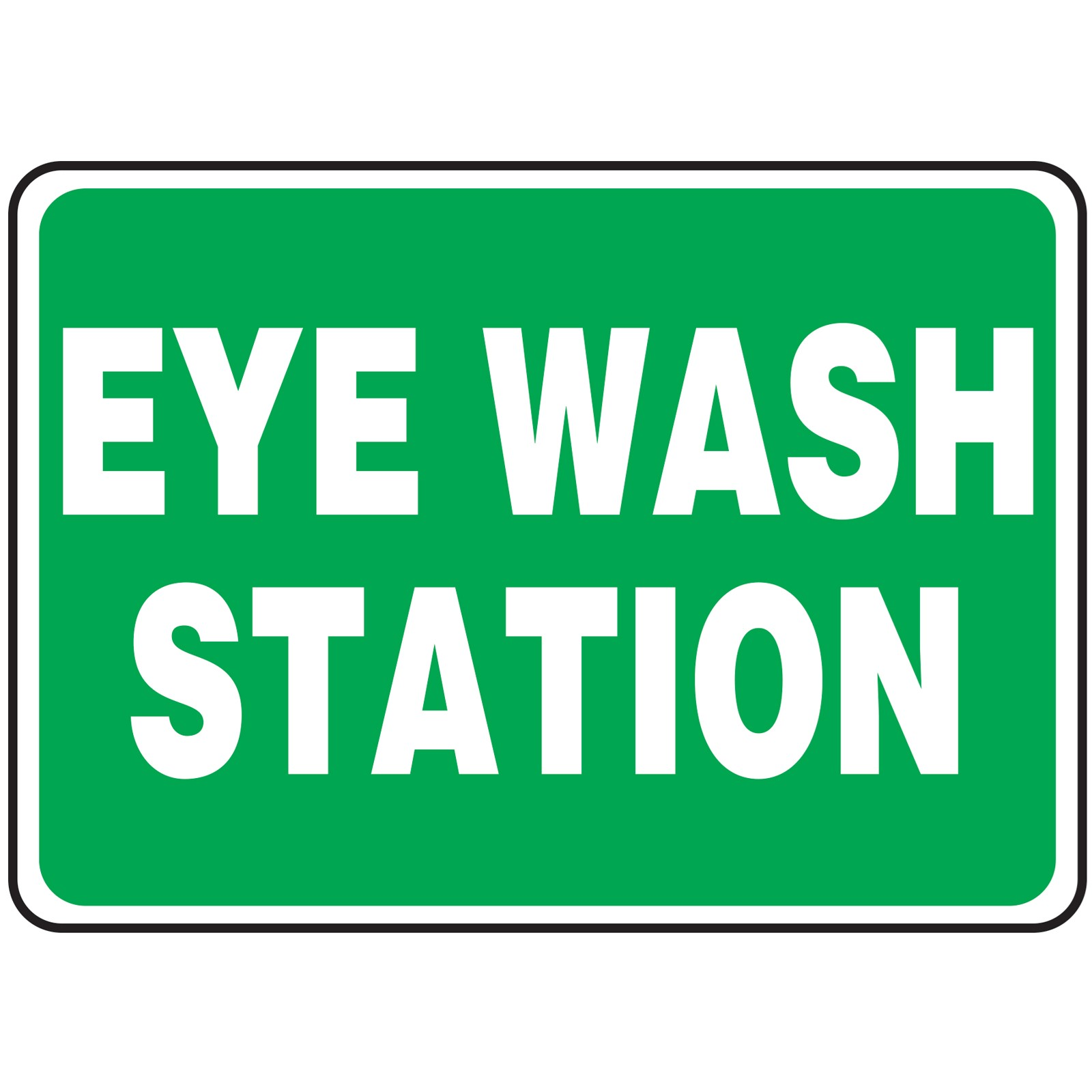 ns signs eye wash station osha safety sign - Eye Wash Station Osha