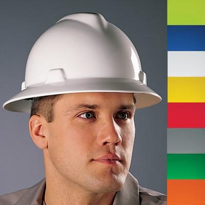 MSA V-Gard® 4-Point Ratchet Suspension Full Brim Hard Hat