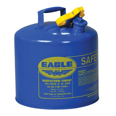 Eagle 5 Gal  Type I Blue Safety Can for Kerosene - 5663