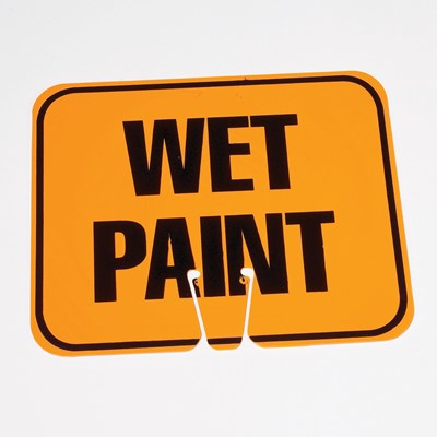 Wet Paint Cone Safety Sign