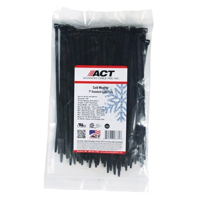 """Made USA ACT 7/"""" Standard Cable Ties Factory Sealed Bags 100 pc UV Blue 50lb"""