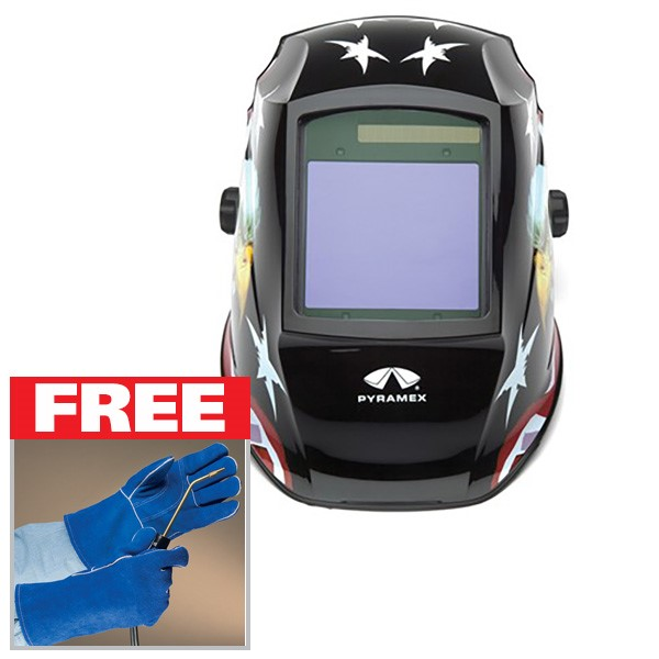 FREE Welding Gloves with a WHAM30 Helmet