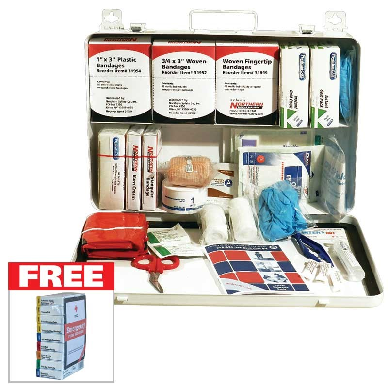 Free Kit Refill with a purchase of a NSI #50 First Aid Kit