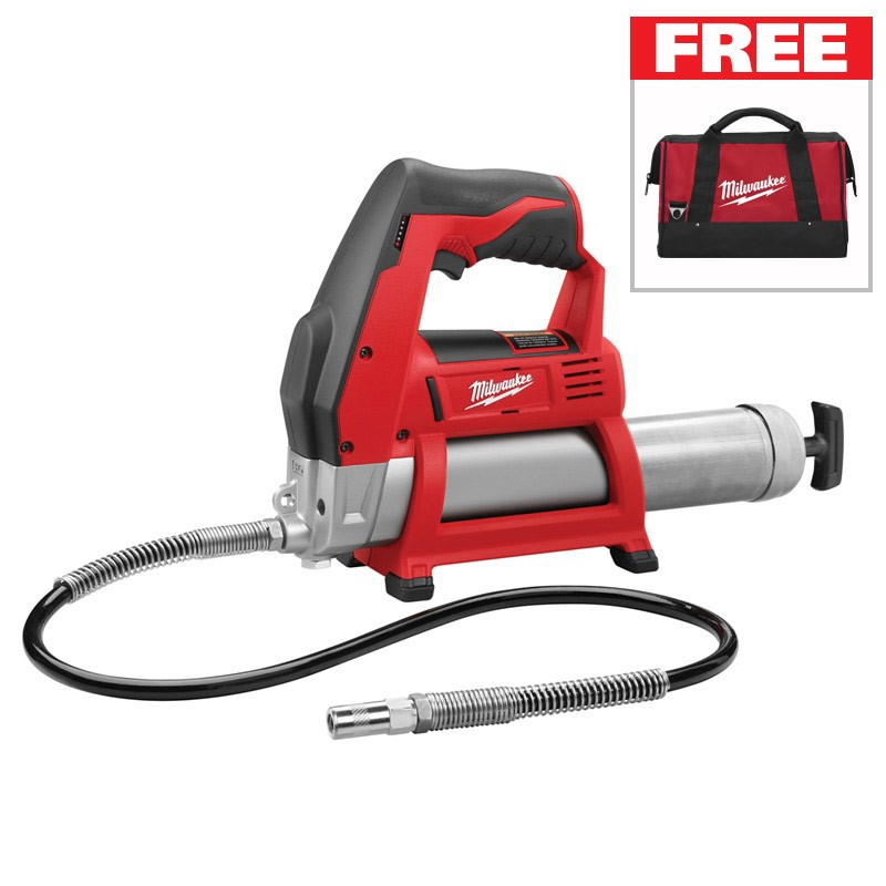 FREE Milwaukee Bag with purchase of a Milwaukee Grease Gun