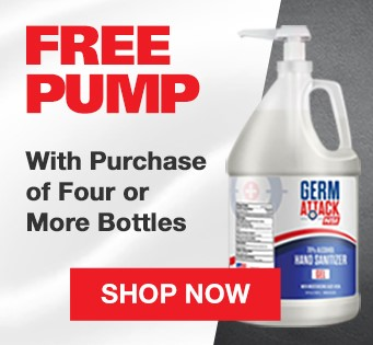 Free pump with purchase of 4 bottles of hand sanitizer