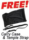 Free Carry Case & Temple Strap
